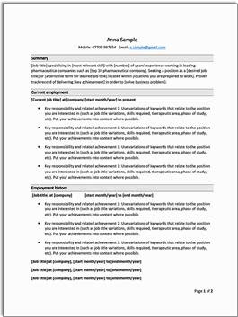 ProClinical-CV-template